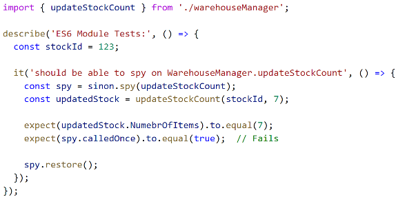 Spying on ES6 modules – Rajeev's Curiosity