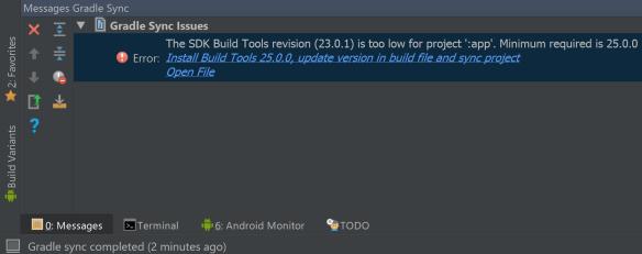 update build tools