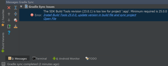 update build tools
